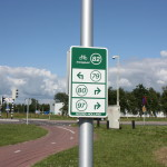 Dutch cycling network junction signs