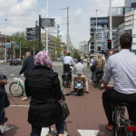 Heavy traffic in Rotterdam city center